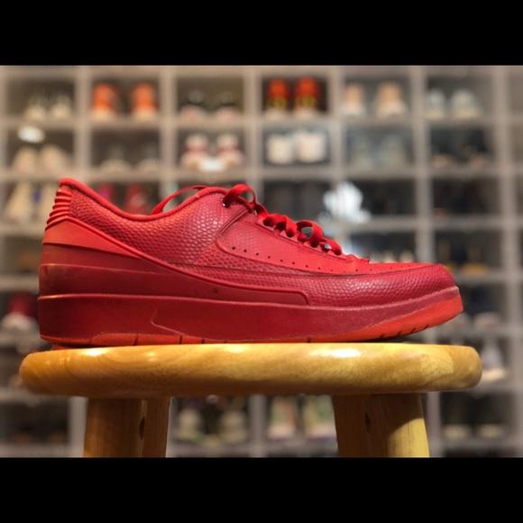 online retailer b5ccb d255f Jordan Other - Jordan 2 Low Top All Red